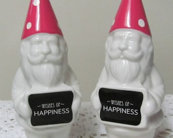 Wedding Garden Gnomes, Garden Gnomes, 5 inch tall Gnomes,