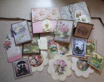Cozy Cottage Mini Album Lots of Vintage Cottage Images