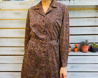 Vintage Dress, 1980s Dress, Vintage Japanese Dress, Women Dress, Summer Dress, 80s Dress, Retro Clothing, Moroccan Print Dress, Summer Dress