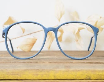 Vintage Eyeglass 1990's Over size by Liz Claiborne New Old Stock Very Cute shade of Blue made In Hong Kong
