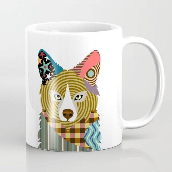 Fox Mug,  Fox Gifts, Animal Mug, Pet Gifts, Pet Mug, Fox Lover Gift, Fox Lover Mug, Fox Print, Animal Print, Cool Coffee Mugs