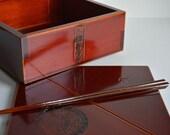 RESERVED FOR PHILIP Hida Takayama urushi lacquerware lidded bowl, Japanese Shunkei nuri bowl for tea ceremony