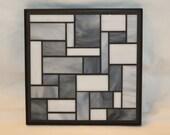 Gray glass mosaic trivet