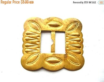 Vintage Stamped Brass Buckle - Southwestern Buckle - Native American Style Brass Buckle