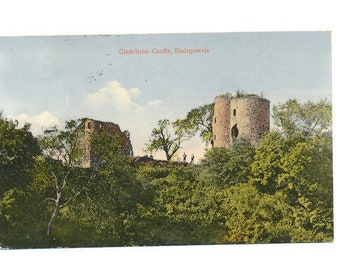 old Scottish postcard of Glasclune Castle, Blairgowrie, 1922