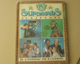 11984 TV Superstars Scrapbook  The A Team Mr T  The Facts of Life Knight Rider David Hasselhoff Different Stokes Book