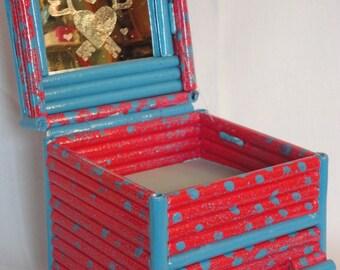 Rolled Paper Handmade Keepsake, Trinket or Jewelry Box