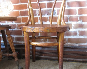 VINTAGE BENTWOOD CHAIR, Antique Bentwood Chair