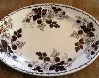 Copper Lustre Platter
