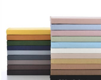 26 color available- Solid Pre Washed Cotton Fabric Basic Soft Cotton In Yellow Off White Blue Purple Pink - 1/2 yard