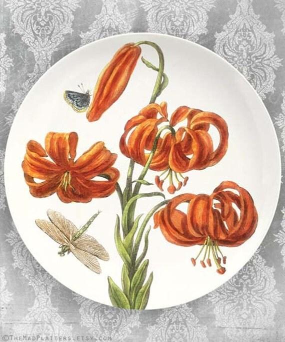 Lily I melamine plate