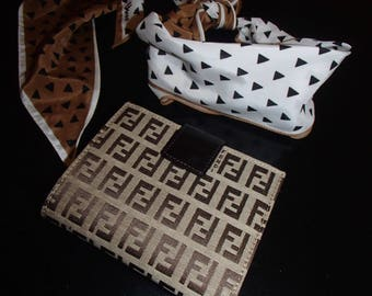 FENDI WALLET/ GET The Look/ Vera Scarf Fendi Wallet and Boob Crop Tshirt/ Custom Designer Stylist Looks/Lucky13vintage