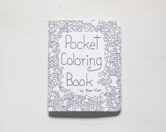 Pocket Coloring Book: Coloring book, adult coloring book, stocking stuffer, gift, art theapy, coloring, geometric