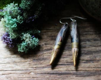 Wild Woman Earrings. Clay. Organic Earthy Bohemian Style...