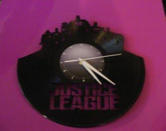 Justice League Laser Cut Album Clock