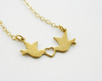 Lovebirds Choker Necklace - VN003