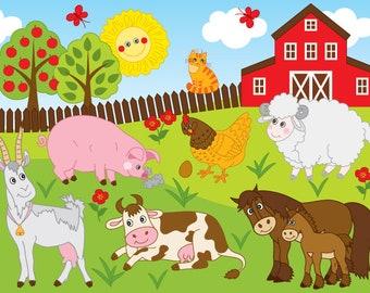 Farm Digital Clipart Clip Art Animal