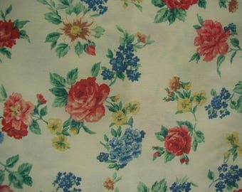 Vintage Pillowslips, King Size Pillowslips,Multi-Color Floral Print, Primary Colors, Unused, Very Nice Quality, Shabby Cottage