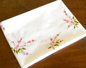 vintage embroidered tablecloth pink floral tablecloth vintage white tablecloth pink embroidered tablecloth