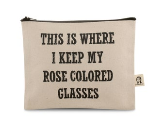 rose colored glasses pouch