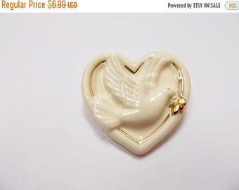 On Sale LENOX Dove of Peace Heart Pin Item K # 1986