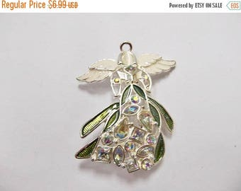 On Sale Retro Enameled Jeweled Angel Pin Item K # 3137