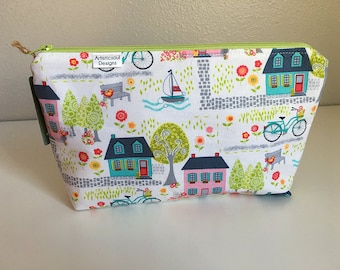 Makeup Bag, Hometown -- Zipper Cosmetic Bag