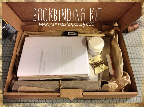 Diy book book binding kit book kit bind my journal kit like this item solutioingenieria Choice Image