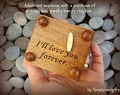 Additional engraving for your custom made music boxes, jewelry boxes or ring boxes