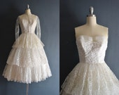Emily / 50s wedding dress / vintage 1950s wedding dress