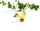 Vintage Yellow Duck Figurine, Josef Originals Ceramic Yellow Duck, Duckling, Easter Figurine, Easter Decor, Miniature Duck, Epsteam