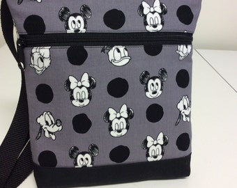 Heads and Dots Disney Print Crossbody Bag