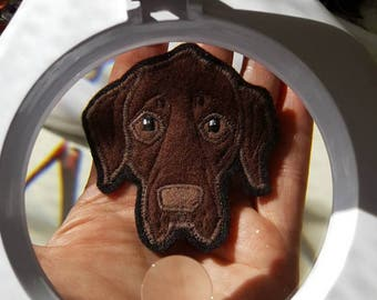 Your Labrador Retriever Gift. Personalized Dog Portrait Patch.