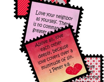 LOVE Bible Verse Cards for Journaling, Gifts, Tags, Valentines