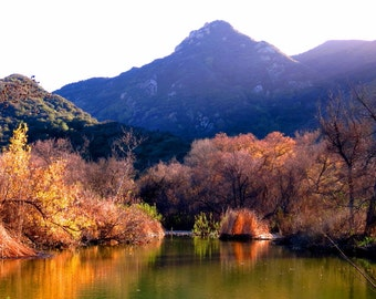 Malibu Creek in Fall by Catherine Roché, California Landscape Photography, River Photography, Mountain Photography, Autumn Nature, Fine Art