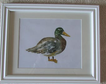 Duck Watercolor Painting Print for Baby's Nursery