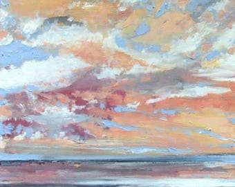 Pacific Setting Sun #2 - Original Acrylic Painting