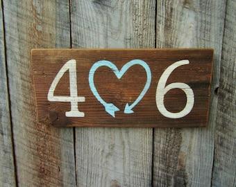 Rustic Home Decor, 406 sign, Montana Area Code, Telephone Sign, Montana Wood Sign, Rustic 406 sign, 406 Decor, Area Code Art, Montana Love