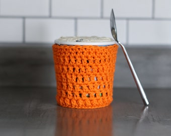 Best Friend Gift, Ice Cream Pint Cozy, Hunter Orange Pint Sleeve. Gift for Ice Cream Lovers.