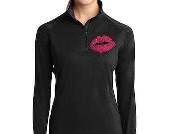 Sport Tek Jacket with glitter Lips