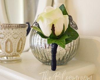 Garden boutonniere / Wedding boutonniere / Boutonniere / Silk boutonniere / Wedding buttonhole / Boho boutonniere / Silk buttonhole / Rustic