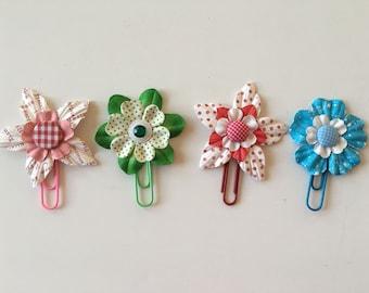 Planner Clips Polka Dot Flowers journal accessories planner accessories bookmark