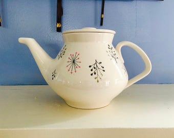 Retro Mid Century Franciscan Tea Pot, 1950s, Gladding McBean, No Chips, Mid Century Modern California Classic Design