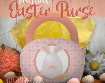Easter Printable PDF - Printable Party Supplies - Easter Bunny Egg Printable Purse