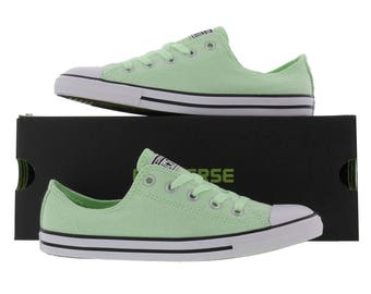 Converse Dainty Mint Pistachio Green Bridal Wedding Kicks w/ Swarovski Crystal Rhinestone Bling Chuck Taylor All Star Sneaker Shoes