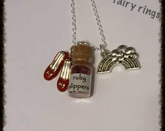 Wizard of Oz Bottle Charm Necklace