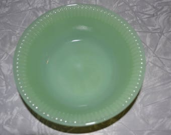 Fire King Jane Ray Jadeite Berry Bowl ~ Fire King Jadeite ~ Vintage Green Bowl ~ Mint Green ~ Epsteam