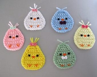 Handmade Crochet Easter Chick Refrigerator Magnet
