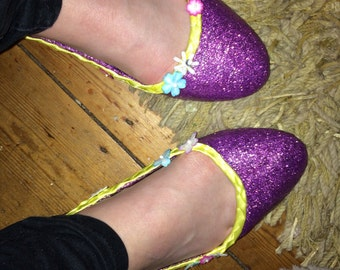 Tangled inspired rapunzel shoes