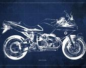 BMW R1100S Blueprint,Art Print larger sizes, Motorcycle Art print,Original Drawing for men cave, digital art, Christmas gift for men